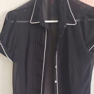 Zara basic small black top